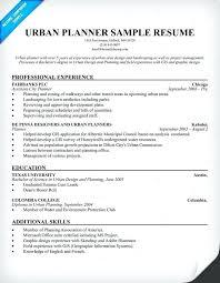 Urban Planning Internship Cover Letter Urban Planner Resumes