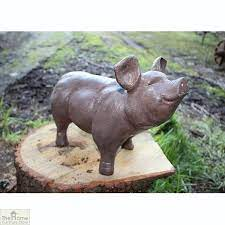 brown pig garden ornament the home