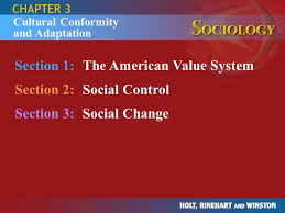 section the american value system section social control  section 1 the american value system section 2 social control