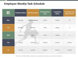 Weekly Task Schedule Employee Weekly Task Schedule Ppt Styles Example