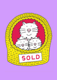 New Home Cartoon Images New Home Congratulations Cartoon Cat And Kittens In A