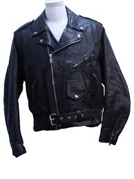 retro nineties leather jacket 90s leather men mens black leather biker jacket with zip front placket fold over snap down notched collar