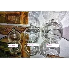 terrarium candle holder set of hanging bubble light candle holder 4 diameters with a silver terrarium candle holder