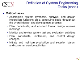Basis Of Design Definition Engineering Systems Engineering Management Ppt Download
