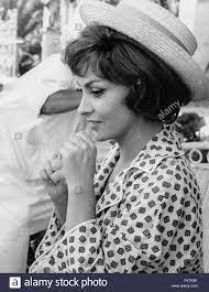Gina Lollobrigida auf dem Set des Films kommen September, Rom, 1960  Stockfotografie - Alamy