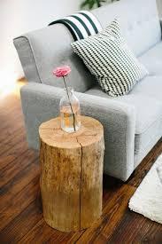 tree stump diy side table decor