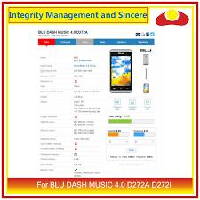 For BLU DASH MUSIC 4.0 D272A D272i ...