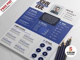 Graphic Designer Resume Psd Templates By Psd Freebies On