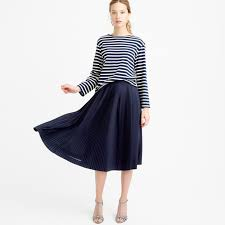 J Crew Resume Dress Micropleated midi skirt AlineMidi JCrew style 54