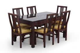 Glass Kitchen Table Sets Buy Rectangular Glass Dining Table Set Online Wooden Glass Dining