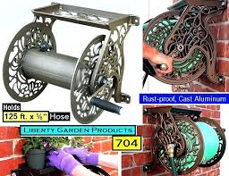 liberty garden hose reel s best decorative wall mounted model 704