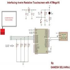 interfacing 4 wire resistive touchscreen atmega16 circuit diagram for interfacing 4 wire resistive touchscreen atmega16