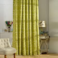 Green Patterned Curtains