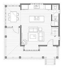 small cabin open floor plans
