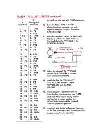 Fuel Tank Dimensions Chart 1955 57 Chevy Belair Fuel Tank Sending Unit Ohm 0 30