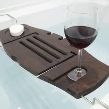 aquala luxury bamboo bathtub caddy. umbra aquala bamboo bathtub caddy walnut kitchen stuff plus luxury a