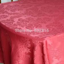 100 polyester red solid dining table linen hotel round table cloth table overlays for weddings