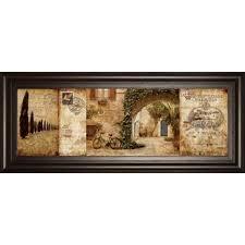 tuscan courtyard framed graphic art on framed plates wall art with tuscan plates wall art wayfair