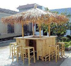 island style natural bamboo tiki style