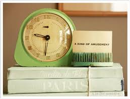 I would love to find an aqua clock. Bees Knees has a fantastic black clock  with an aqua face! See is below? 2nd from left. I tried to steal it once  when ...
