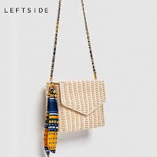 LEFTSIDE Summer <b>Women</b> 2018 Handmade Round <b>Bamboo</b> ...