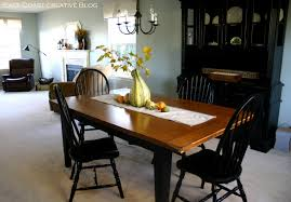 Kitchen Table Refinishing Refinished Dining Room Table Furniture Makeover East Coast