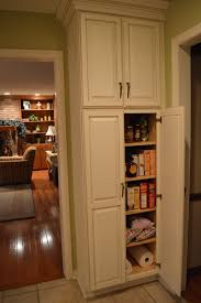 innovative ideas kitchen pantry cabinets f white wooden tall narrow cabinet with maple wood shelves