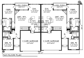 Duplex Home Plan   European Flair   AH   st Floor Master    Floor Plan