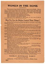 women s suffrage poster the gilder lehrman institute of w suffrage party of the city of new york women in the home broadside