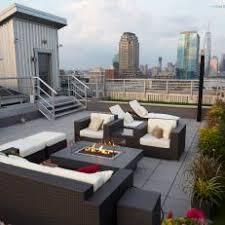 rooftop deck furniture.  Deck Rooftop Deck Overlooks New York City On Furniture 0