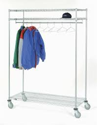 quality fabricators garment rack with 3 shelves shelf width 3 shelves 24 hangers 24w x 60l x 80h