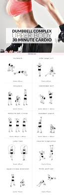 Dumbbell Workout Chart 30 Minute Cardio Upper Body Dumbbell Workout