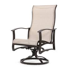 mallin albany sling high back swivel rocker dining chair outdoor