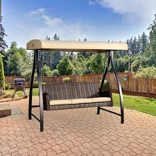 swing canopy costco person wooden