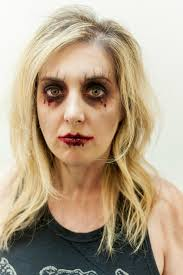 easy zombie makeup step by step photo 2