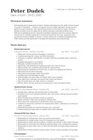 Server Resume Examples Delectable Bartender Server Resume Samples VisualCV Resume Samples Database