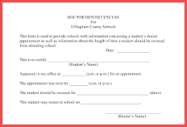 Doctors Absence Note Template Excused Meaning Glotro Co