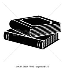 horizontal stack of two books black simple icon csp33315475