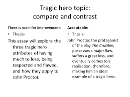 practice thesis statements and topic sentences ppt  2 tragic hero