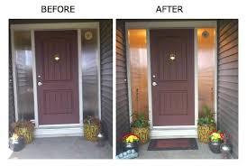 how to change front door spring front door before and after replacement front door glass panels