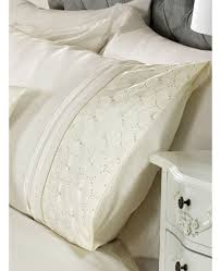 everdean fl cream king size quilt cover and pillowcase set