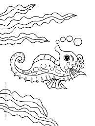 Small Picture Seahorse Coloring Pages Fish Sea Horse Coloring Pages Royalty Free