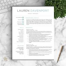 modern resume template. Modern Resume Template for Word and Pages The Davenport Get Landed