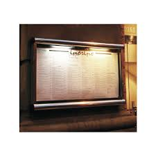 battery powered restaurant case displays