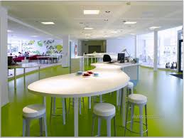 office meeting ideas. Appealing Large Space Office Meeting Room Design With Brown Cool Decoration Oval Table And Lime Green Painted Floor White Bar Stools Awesome Ideas