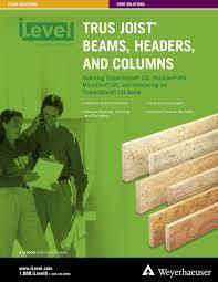 Ilevel Trus Joist Beams Headers And Columns Specifiers
