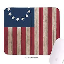 Amazon Com Wiblihdian Betsy Ross 1776 Flag Mouse Pad