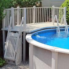 above ground pool deck kits. Above Ground Pool Vinyl Deck Kits InTheSwim