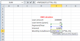 home loan interest calculator excel best excel tutorial how to calculate emi