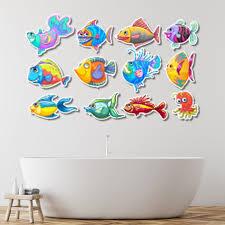 koi fish wall decal set colorful fish